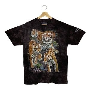 Jungle Tigers in Wild The Mountain T-Shirt Gray